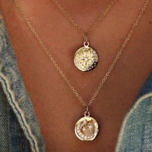 Celestial coin/pendant necklace